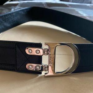 Christian Dior Black Leathet belt. Brand New.
